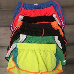Pants - Lot of 7 medium athletic shorts, Nike, NB, Pony